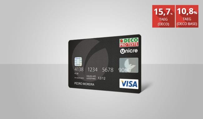 Vantagens do cartão de crédito da DECO