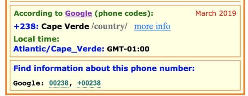 Truque para saber a que país pertence um indicativo