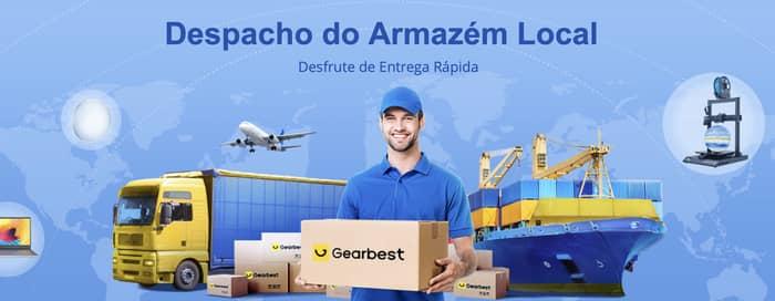 melhores tempos de envio na Gearbest Portugal
