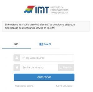 Autenticação no Portal das Finanças