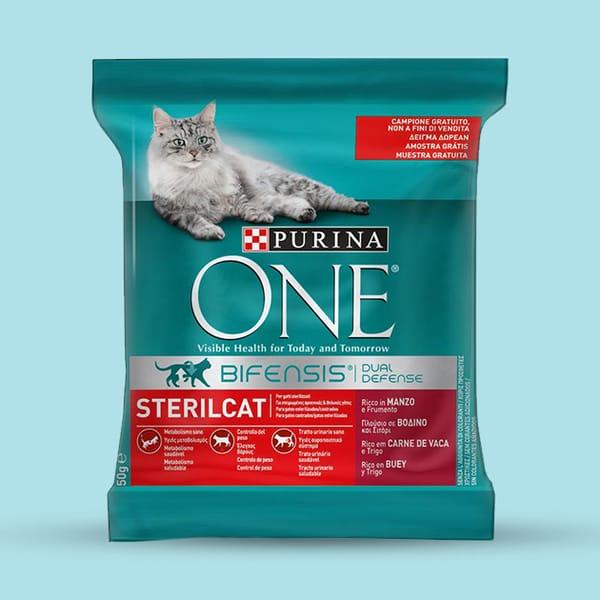 Ração Purina ONE Sterlicat de 50G (ração para gato)